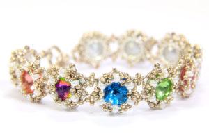 Starburst Rivoli Bracelet and Earring Set 10