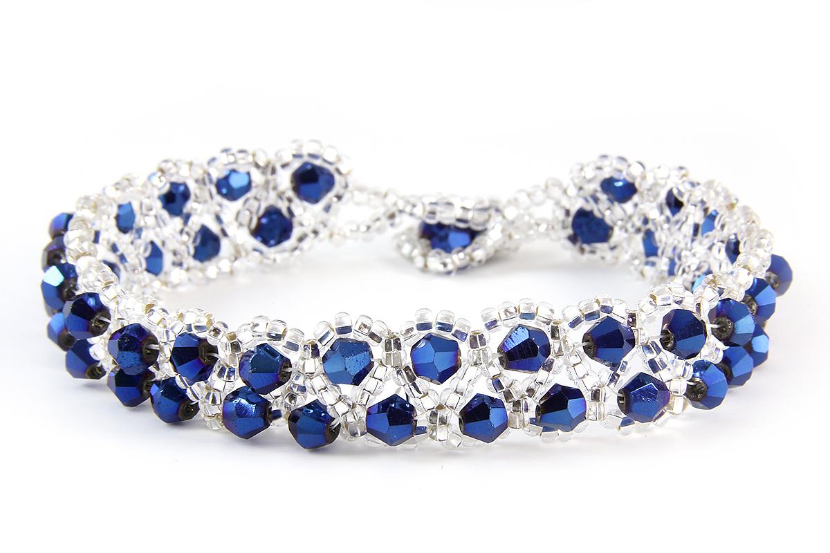 Electric Blue Raindrop Bracelet
