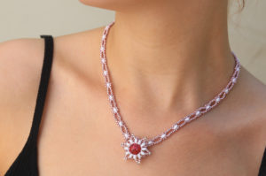 Coral Nebula Starlight Necklace Kit