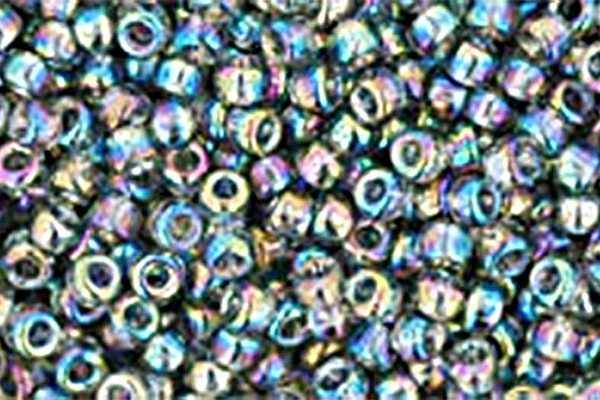 Transparent Rainbow Grey Toho Round Seed Beads