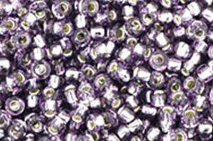 Silver Lined Tanzanite Toho Round Seed Beads