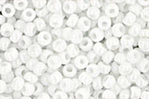 Opaque White Toho Round Seed Beads
