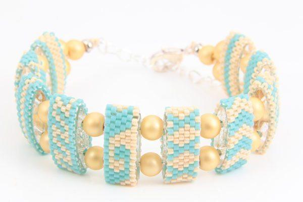 Tahiti Turquoise Riviera Carrier Bead Bracelet Kit