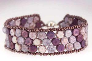 Vintage Violet Mosaic Bracelet