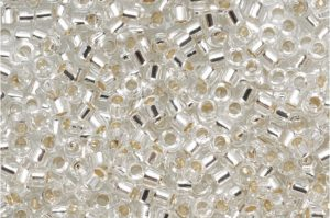 Crystal Silver Lined Delica Beads