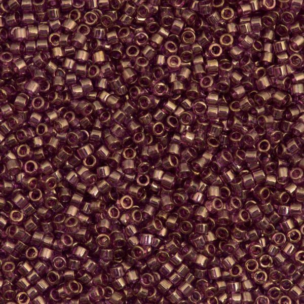 Amethyst Gold Luster Delica Beads