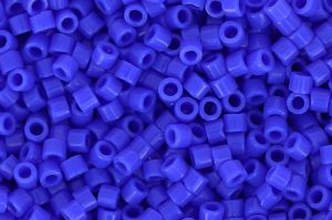 Opaque Cyan Blue Delica Beads