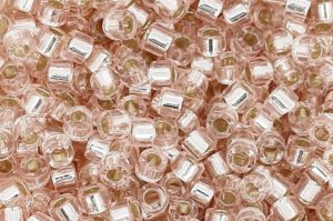 Pink Mist Silver Lined Delica Beads