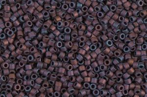 Matte Metallic Copper Delica Beads