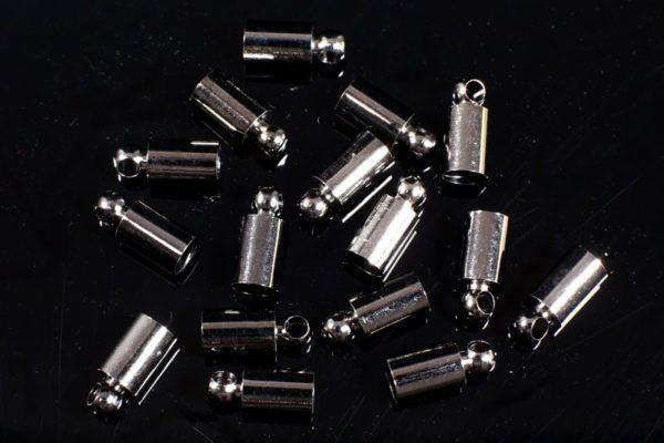 4mm Black Glue In End Caps 16pcs
