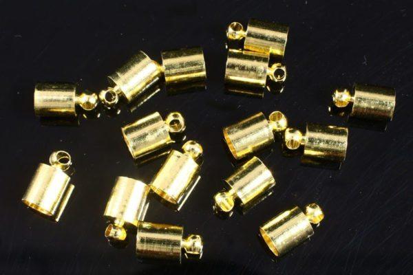 5mm Gold Glue in End Caps 16pcs