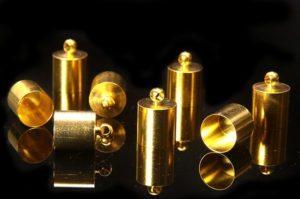 9mm Gold Glue In End Caps 8pcs
