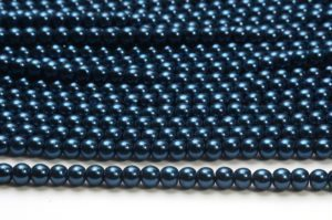 Deepwater Blue Glass Pearls