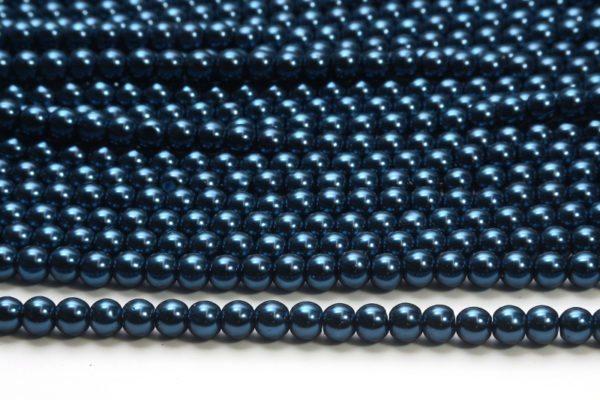 Deepwater Blue Glass Pearls