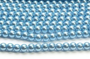 Cool Blue Glass Pearls