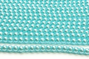 Elsa Blue Glass Pearls