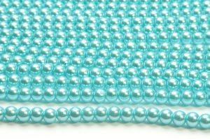 Elsa Blue Glass Pearls