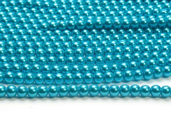 Jewel Turquoise Glass Pearls