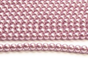 Lilac Glass Pearls