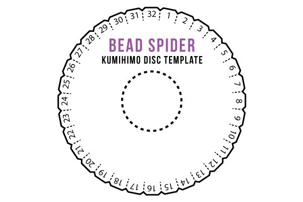 diy kumihimo disc template and assembly instructions