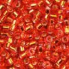 Silver Lined Flame Red Delica Beads