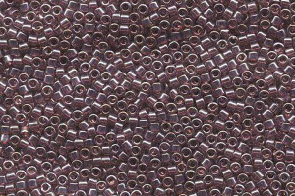 Transparent Mauve Luster Delica Beads