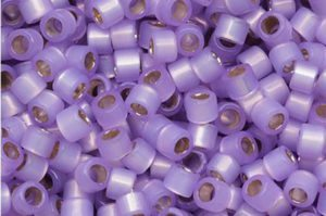 Lavender Transparent Opal Lined Delica Beads
