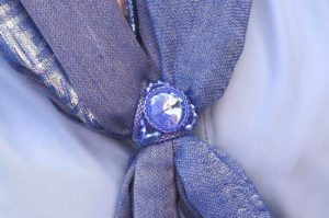 Sea Breeze crystal scarf and sarong ring