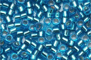 Silver Lined Aquamarine Delica Beads