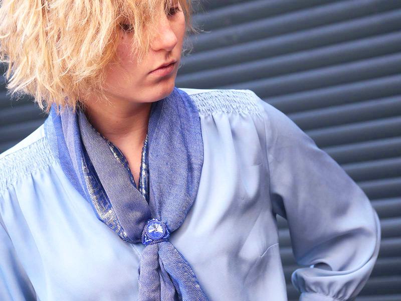 Sea Breeze crystal scarf and sarong ring
