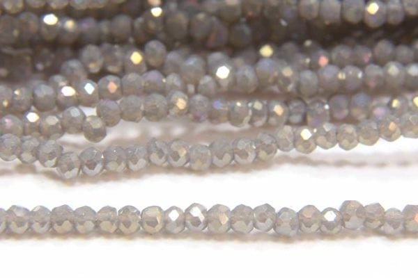 Opaque Smoke AB Size 11 Micro Crystals