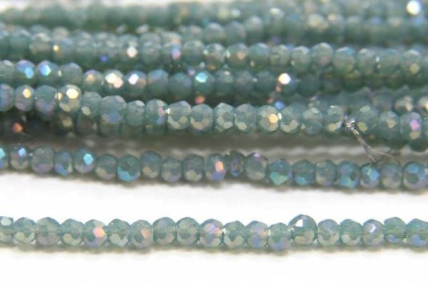 Antique Teal AB Size 11 Micro Crystals