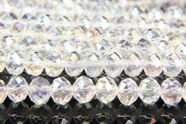 Clear AB Facetted Crystal Donuts