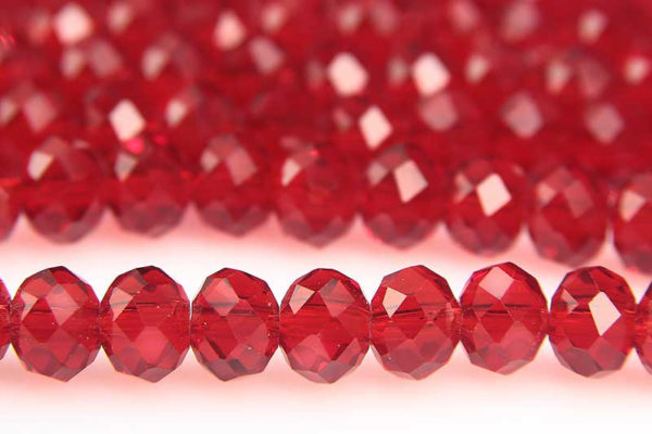 Ruby Facetted Crystal Donuts
