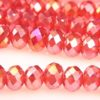 Ruby AB Facetted Crystal Donuts