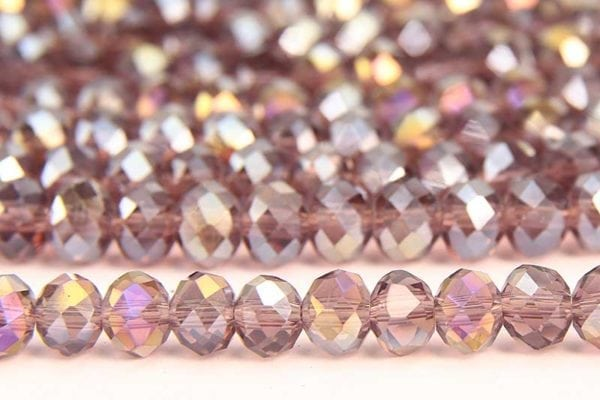 Amethyst AB Facetted Crystal Donuts