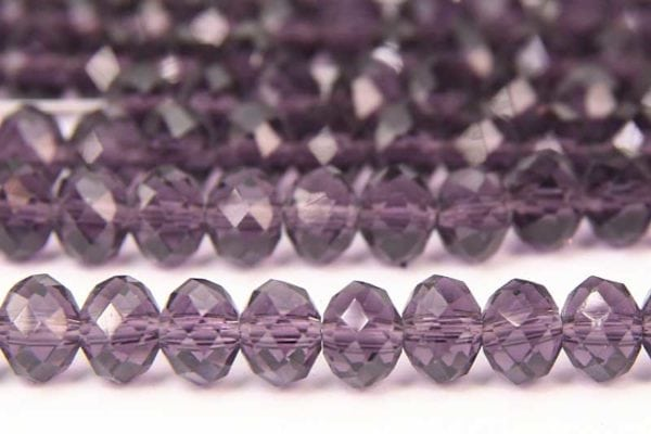 Deep Purple Lustre Facetted Crystal Donuts