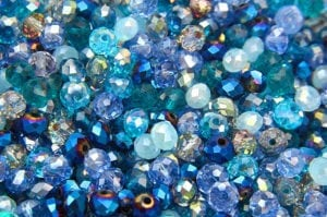 Ocean Mix Facetted Crystal Donuts