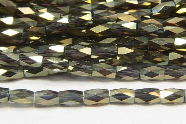 Metallic Forest Facetted Crystal Bugles