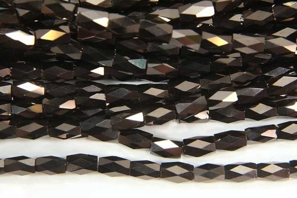 Copper Hematite Lustre Facetted Crystal Bugles
