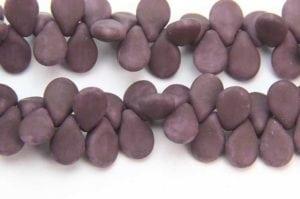 Matte Opaque Plum Pip Beads