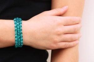 Honeycomb Crystal Macrame Bracelet