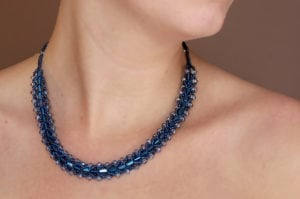 Electric Sapphire Entice Necklace