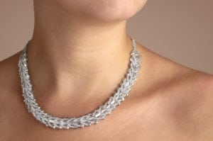Silver Diamond Entice Necklace