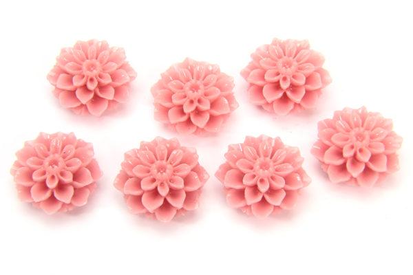 Pastel Pink Chrysanthemum Hand Crafted Gemstone Flowers