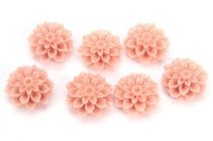 Antique Pink Chrysanthemum Hand Crafted Gemstone Flowers