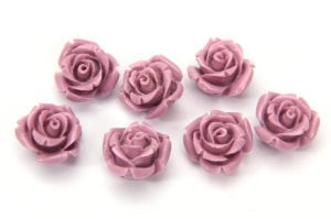 Antique Lilac Rose Hand Crafted Gemstone Flowers