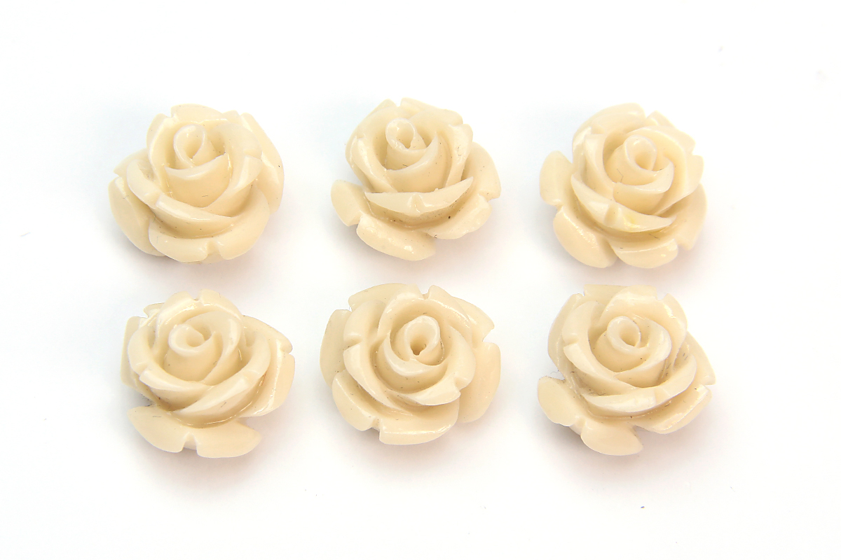 Cream Rose Hand Crafted Gemstone Flowers