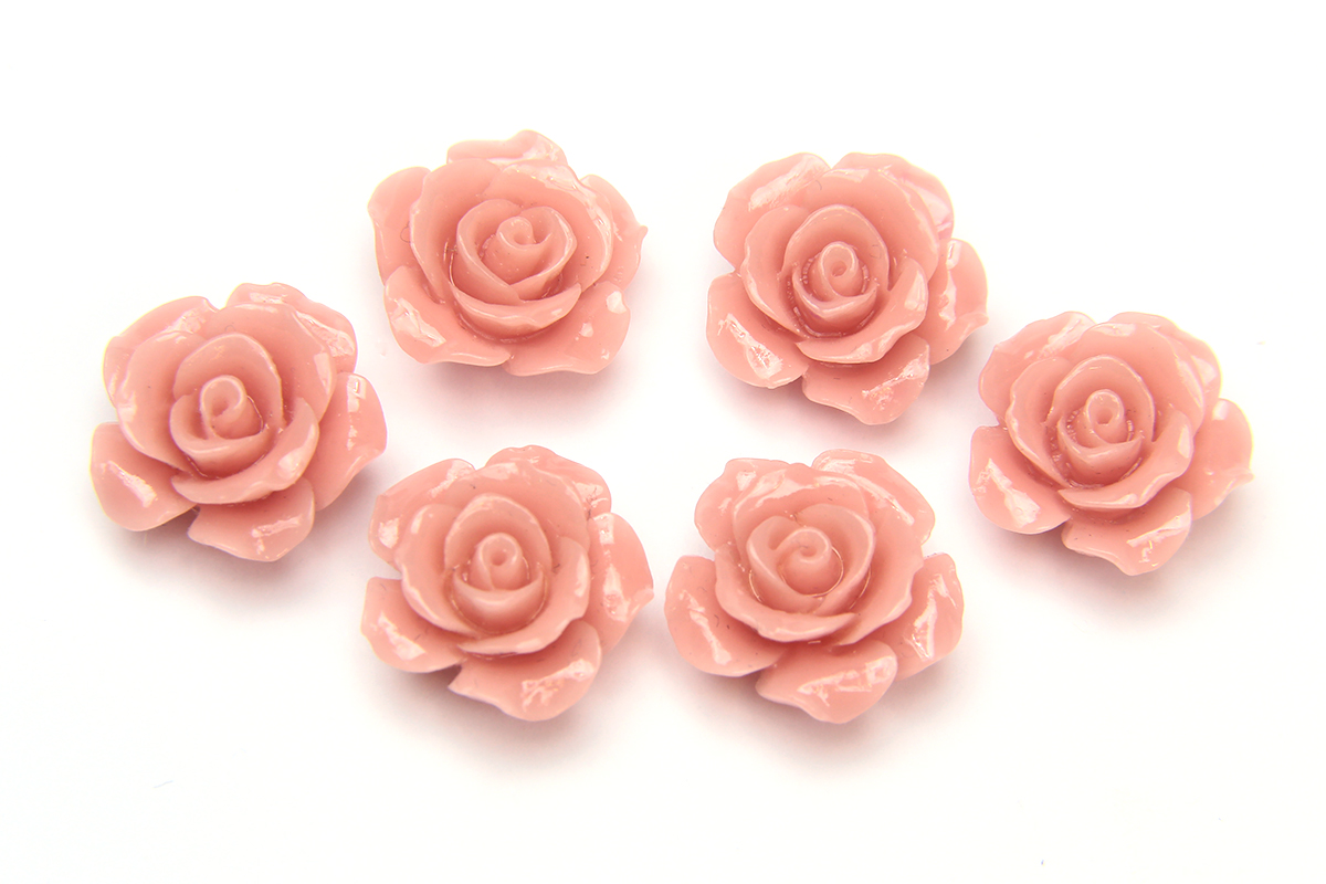 Antique Pink Open Rose Hand Crafted Gemstone Flowers