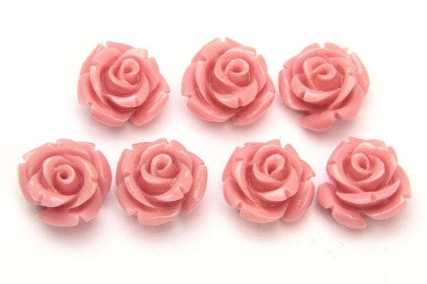 Pastel Pink Rose Hand Crafted Gemstone Flowers